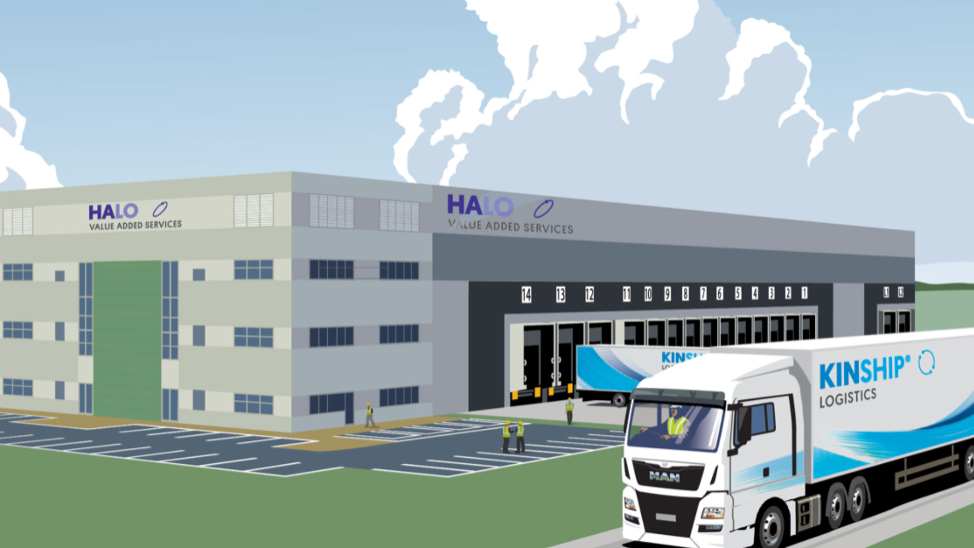 Image of the new Halo building at london gateway